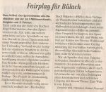 Fairplay für Bülach