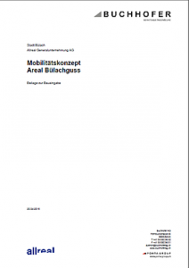 Mobilitätskonzept Areal Bülachguss