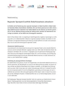 Medienmitteilung Sportpark Erachfeld